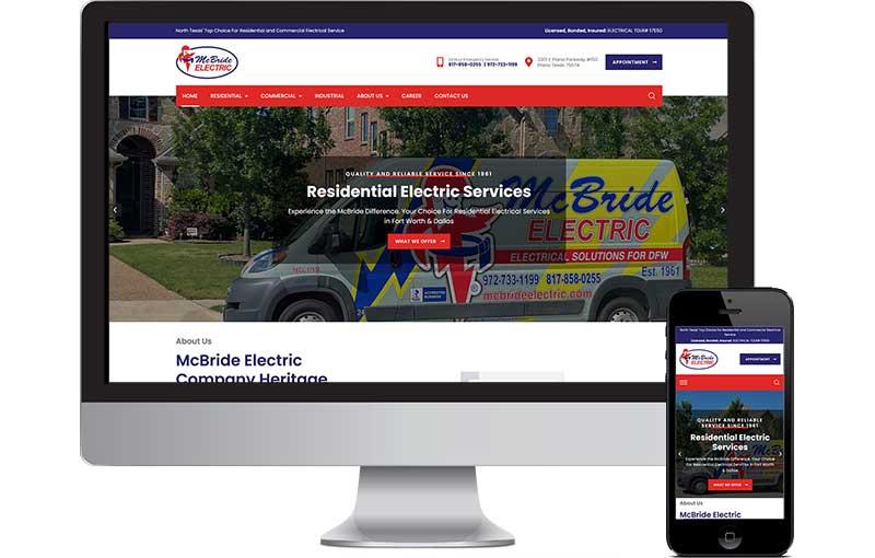 McBride Electric Website Redesign